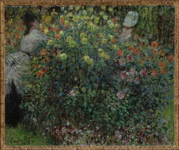 Claude Monet, Two Women among the Flowers, 1875