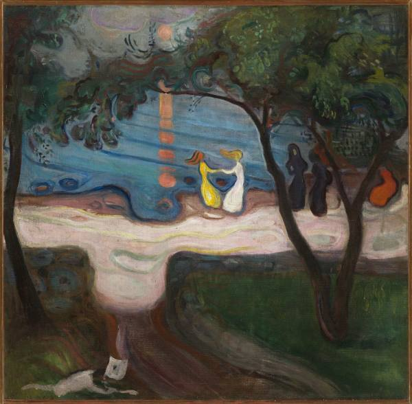 Edvard Munch, Dancing on a Shore, 1900