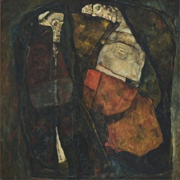 Egon Schiele, Pregnant Woman and Death (Mother and Death), 1911