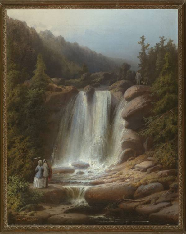 Josef Navrátil, Waterfall of the Mumlava River in the Giant Mountains, 1850–1853