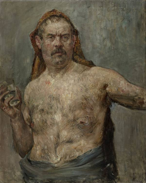 Lovis Corinth, Self-portrait with a Glass, 1907