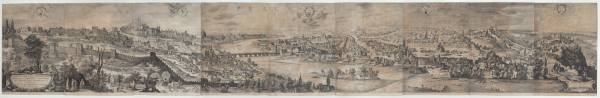 Johannes Wechter after Philip van den Bossche, View of Prague – the Sadeler Panorama, 1606, Engraving