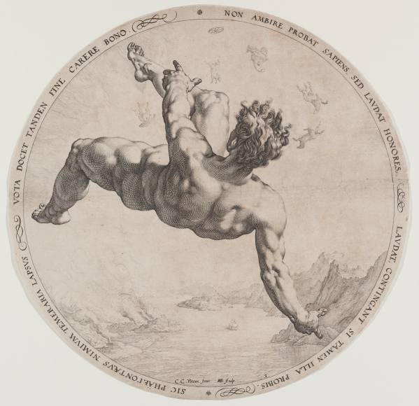 Hendrick Goltzius, Phaethon, from the Four Disgracers cycle, 1588