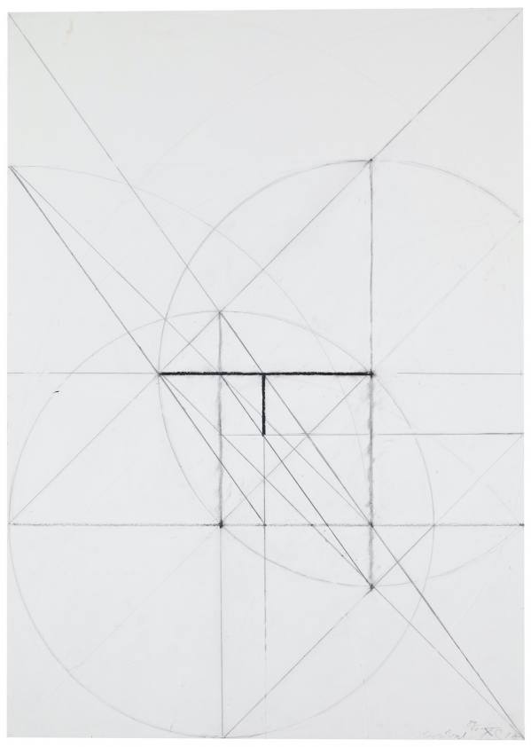 Stanislav Kolíbal, Drawing No. XCI from the Berlin cycle, 1988, Charcoal, pencil