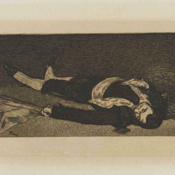 Édouard Manet (1832–1883), Dead Toreador, 1868, etching and aquatint on paper, NGP