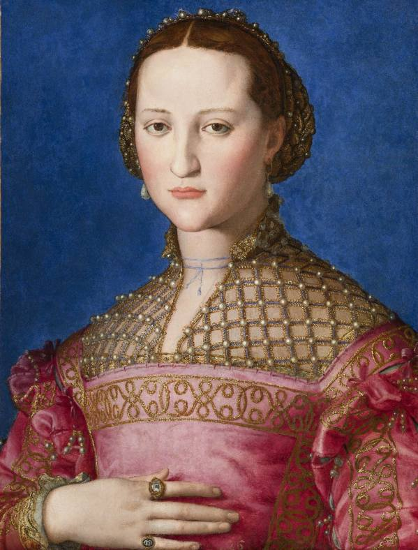 Agnolo Bronzino (1503 Florence – 1572 Florence), Portrait of Eleanor of Toledo, c.1543