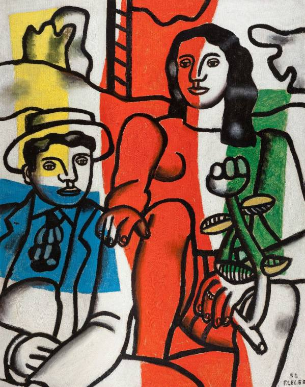 Fernand Léger, Two Lovers in the Landscape, 1952