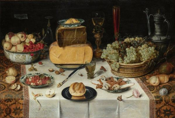 Nicolaes Gillis, Still Life on the Table (Banquet Table), 1614, National Gallery Prague