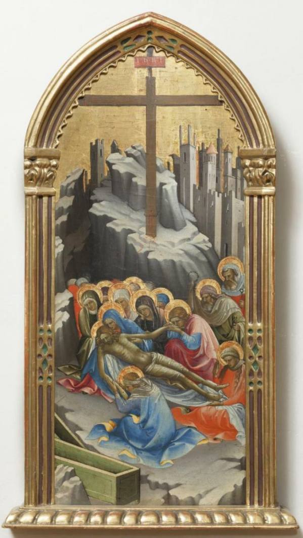 Lorenzo Monaco, The Lamentation of Christ, 1408, National Gallery Prague