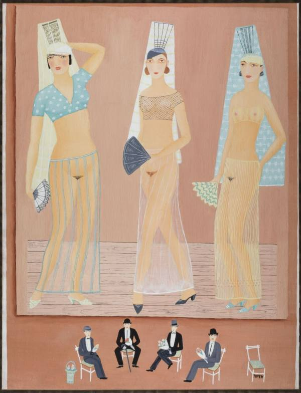 Toyen, Three Dancing Girls, 1925, NGP