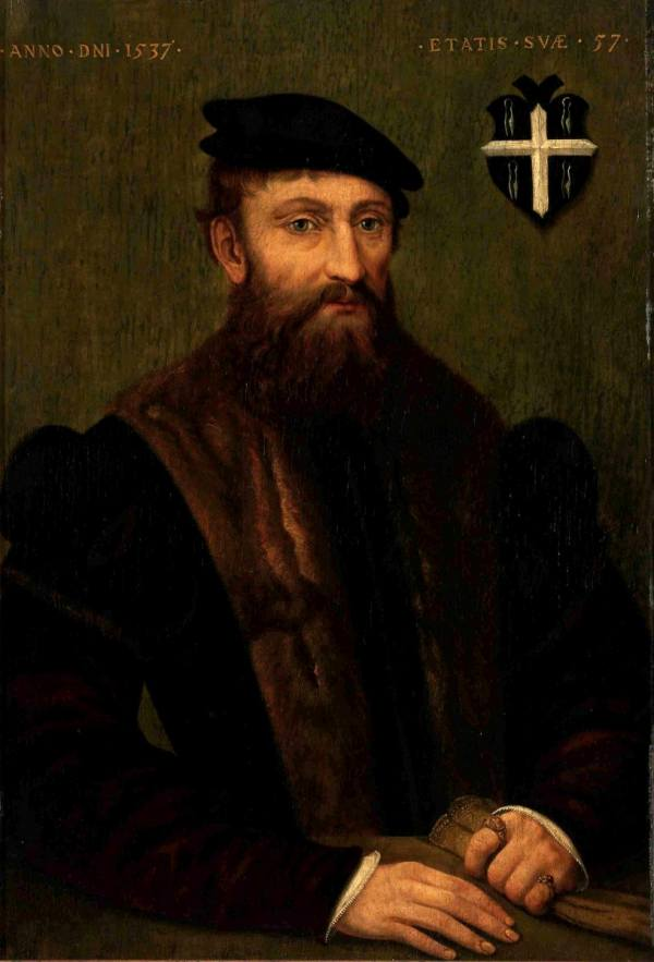 Portraits in the style of the German Old Masters were another popular genre, just as this one. It bears an inscription informing that the painting was made in 1537.