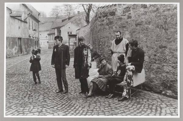 Milan Knížák, A Walk Around Nový Svět: A Demonstration for All the Senses, 1964, Photo: NGP archive, by kind permission of the artist