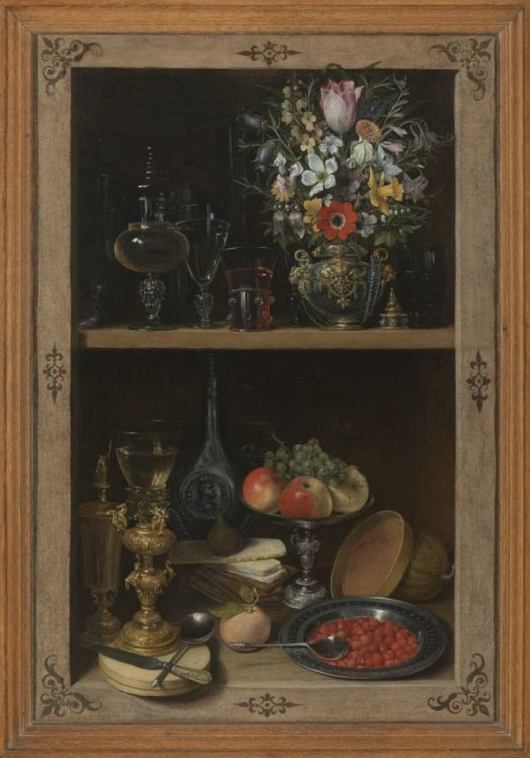 Georg Flegel (1566 Olomouc – 1638 Frankfurt am Main), Niche with Fruit and Flowers, 1610–1620