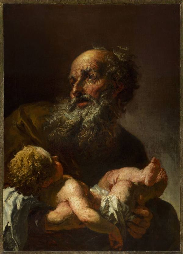 Petr Brandl (1668 Prague – 1735 Kutná Hora), Simeon with the Infant Jesus, c.1730