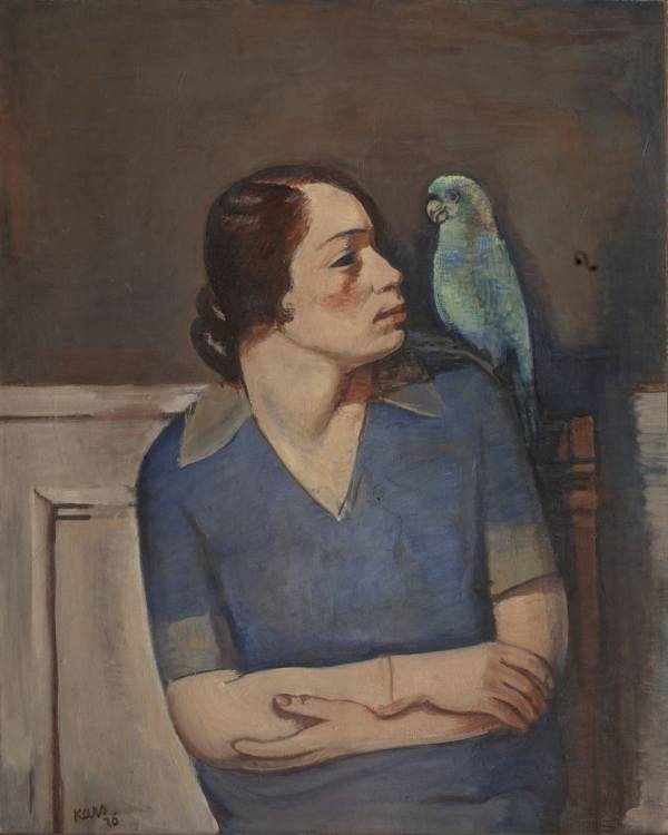 Georg Kars, Woman with a Parrot, 1926