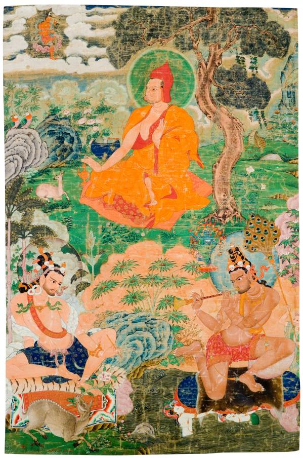 Three Mahasiddhas: Thogme, Nartapa and Lingbupa, Tibet, 17th century