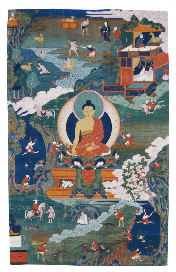 The Buddha and the Stories of his Previous Lives, Tibet, 17th–18th century