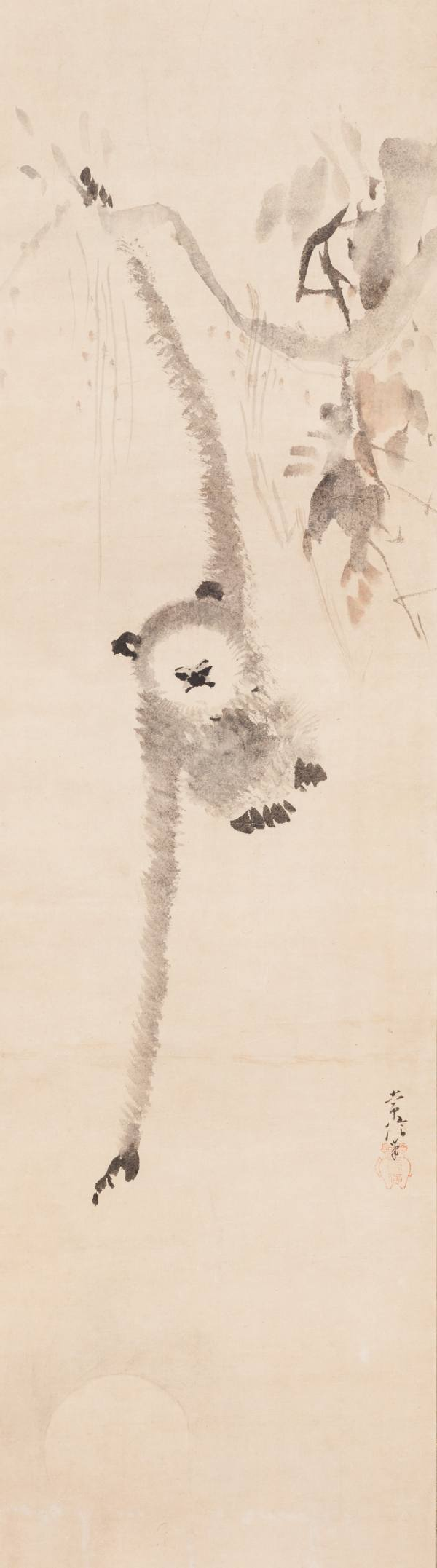 Kanō Tsunenobu, Monkey Reaching for the Moon's Reflection in the Waves, Japan, c. 1700